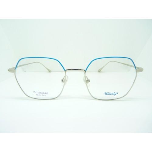 Woodys Okulary korekcyjne damskie Dingo 03 - srebrny