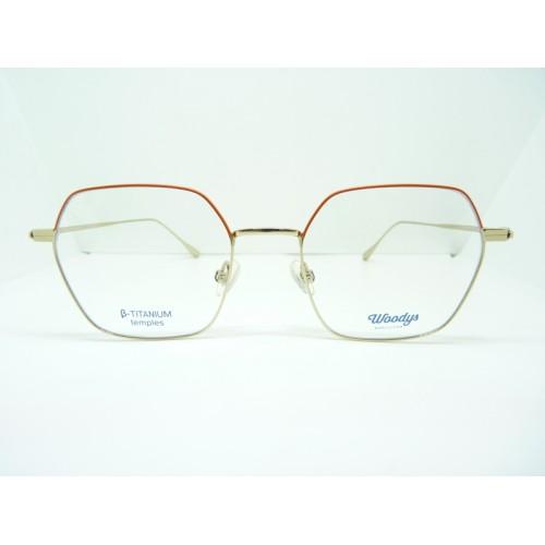 Woodys Okulary korekcyjne damskie Dingo 04 - pomarańczowy