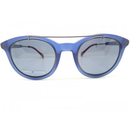 Tommy Hilfiger Okulary przeciwsłoneczne damskie TH1348/S JU772 - niebieski, filtr UV 400