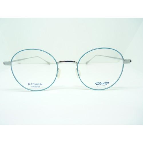 Woodys Okulary korekcyjne damskie Fox 03 - niebieski