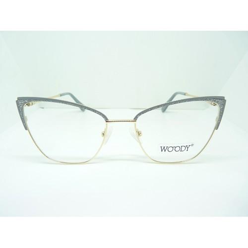 WOODY Oprawa okularowa damska MG 3509A C5 - złoty, srebrny