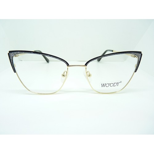 WOODY Oprawa okularowa damska MG 3509A C1 - czarny, złoty