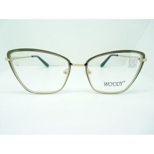 WOODY Oprawa okularowa damska MG 3506 C5 - złoty, zielony