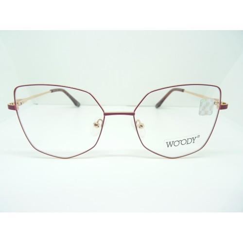 WOODY Okulary korekcyjne damskie ME 2314 C3 - złoty, różowy