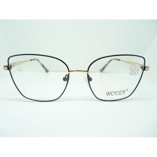 WOODY Okulary korekcyjne damskie ME 2312 C1 - czarny, złoty