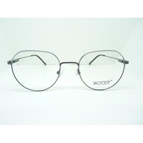 WOODY Okulary korekcyjne damskie 9491 C3 - czarny, srebrny
