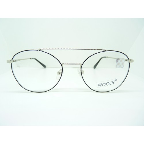 WOODY Oprawa okularowa damska 3573 C2 - czarny, srebrny