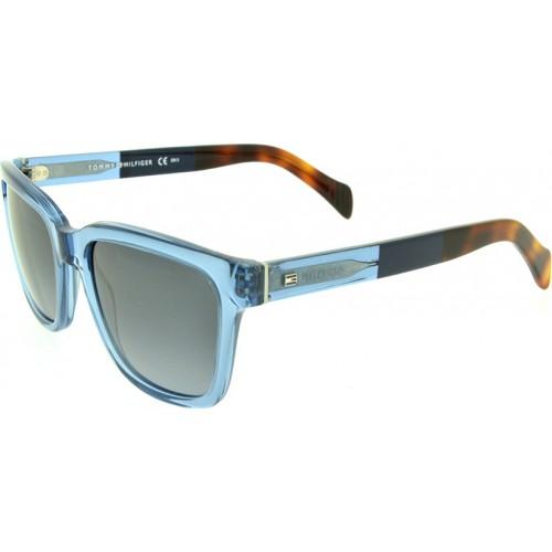 Tommy Hilfiger Okulary przeciwsłoneczne damskie TH1289/S G85HD - niebieski, filtr UV 400