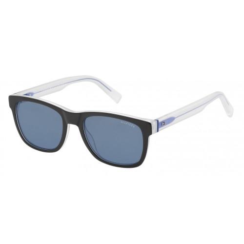 Tommy Hilfiger Okulary przeciwsłoneczne męskie TH1360 K5272 - czarny, transparentny, filtr UV 400