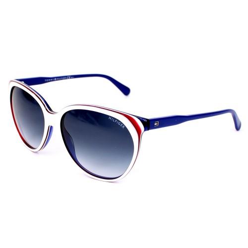Tommy Hilfiger Okulary przeciwsłoneczne damskie TH1315/S VN608 - czerwony, biały, niebieski, filtr UV 400