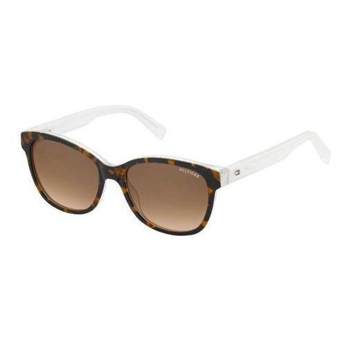 Tommy Hilfiger Okulary przeciwsłoneczne damskie TH1363/S K2W63 - transparentny, brązowy, filtr UV 400