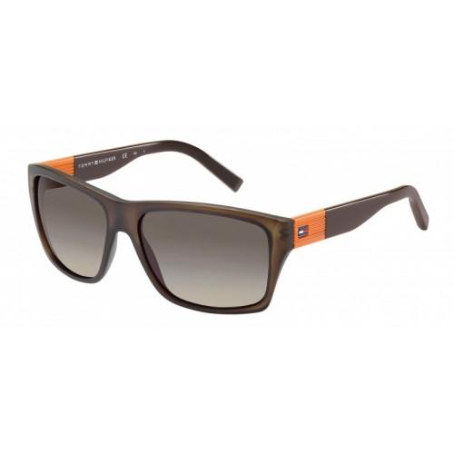Tommy Hilfiger Okulary przeciwsłoneczne męskie TH1193/S 81LR4 - brązowy, pomarańczowy, filtr UV 400