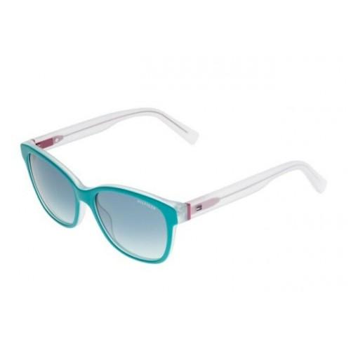 Tommy Hilfiger Okulary przeciwsłoneczne damskie TH1363/S K34X2 - transparentny, filtr UV 400
