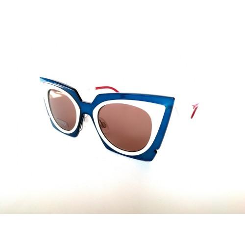 Fendi Okulary przeciwsłoneczne damskie FF 0117/S IC4UT - biały, niebieski, filtr UV 400