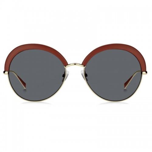 MaxMara Okulary przeciwsłoneczne damskie MM ILDE II 25RIR - srebrny, czerwony, filtr UV 400
