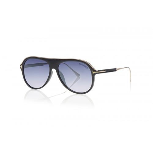 Tom Ford Okulary przeciwsłoneczne męskie FT0624 01C - czarny