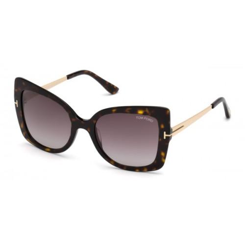 Tom Ford Okulary przeciwsłoneczne damskie FT0609 52T - złoty, szylkret, filtr UV 400
