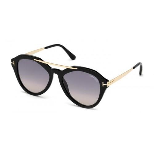 Tom Ford Okulary przeciwsłoneczne damskie FT0576 01B - czarny, filtr UV 400