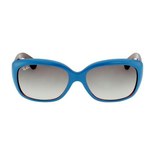 Ray Ban Okulary przeciwsłoneczne damskie RB 4101 JACKIE OHH 6133/11 - niebieski, filtr UV 400, polaryzacja