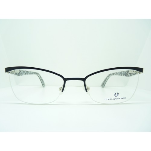 Louis Delacroix Okulary korekcyjne damskie 73023 Col.01 - czarny