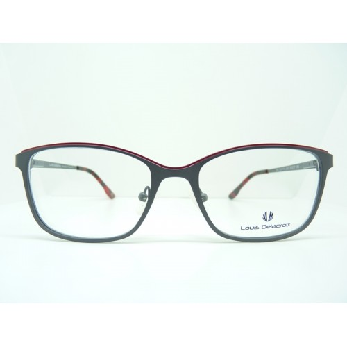 Louis Delacroix Okulary korekcyjne damskie 73057RW Col.02 - czerwony, szary