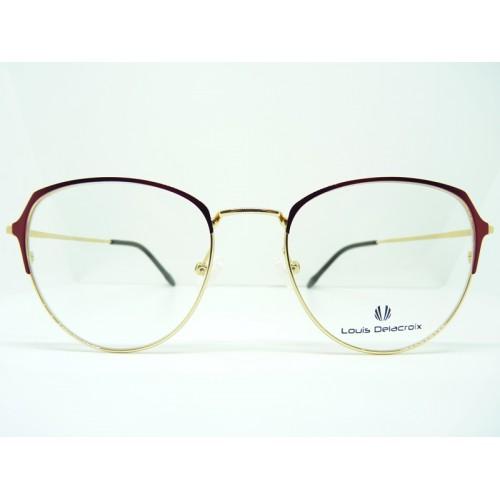 Louis Delacroix Okulary korekcyjne damskie 73085 Col.03 - złoty, czerwony