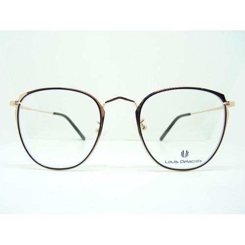 Louis Delacroix Oprawa okularowa damska 73120 Col.03 - czarny, złoty