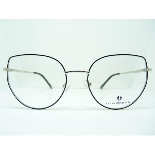 Louis Delacroix Okulary korekcyjne damskie 73158CD-N Col.02 - czarny, srebrny