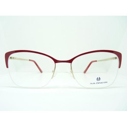 Louis Delacroix Okulary korekcyjne damskie 73168RW Col.02 - złoty, czerwony