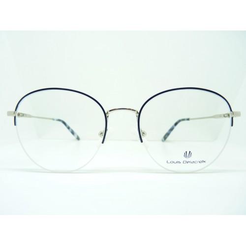 Louis Delacroix Okulary korekcyjne damskie 73169RW-N Col.02 - czarny, srebrny