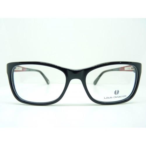 Louis Delacroix Okulary korekcyjne damskie 77015 Col.01 - czarny, czerwony