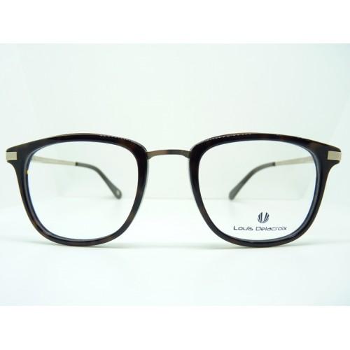 Louis Delacroix Oprawa okularowa damska 77045 Col.03 - czarny, srebrny