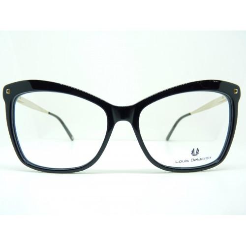 Louis Delacroix Oprawa okularowa damska 77049 Col.01 - czarny, złoty