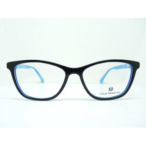 Louis Delacroix Oprawa okularowa damska 77052 Col.03 - czarny, niebieski