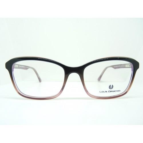 Louis Delacroix Okulary korekcyjne damskie 77068AB Col.03 - czarny, różowy