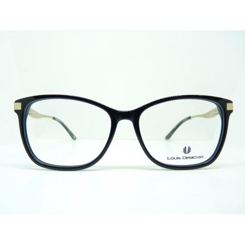 Louis Delacroix Oprawa okularowa damska 77077AB Col.04 - czarny, złoty