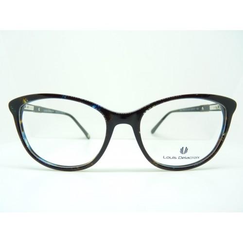 Louis Delacroix Oprawa okularowa damska 77081CD Col.02 - czarny, szylkret
