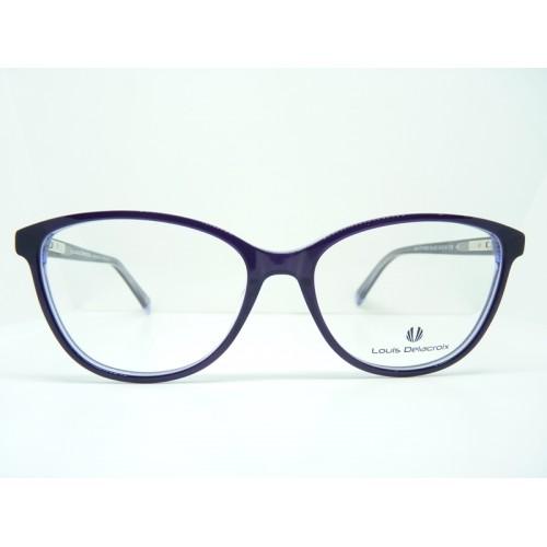 Louis Delacroix Oprawa okularowa damska 77110AB Col.02 - fioletowy
