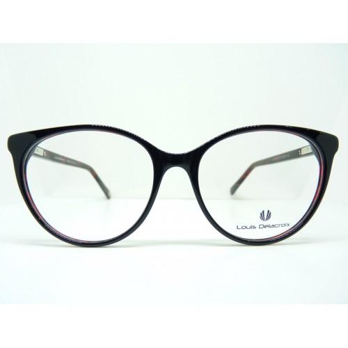 Louis Delacroix Oprawa okularowa damska 77141CD Col.01 - czarny, czerwony