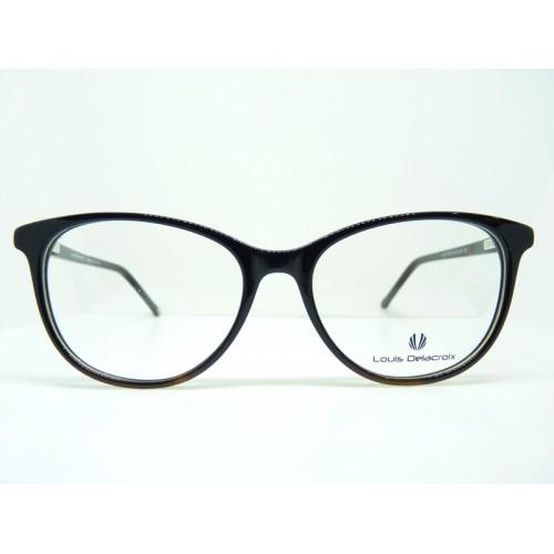 Louis Delacroix Oprawa okularowa damska 77142CD Col.03 - czarny, brązowy