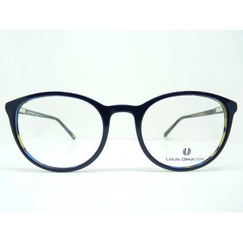 Louis Delacroix Oprawa okularowa damska 77147CD-N Col.02 - granatowy, szylkret