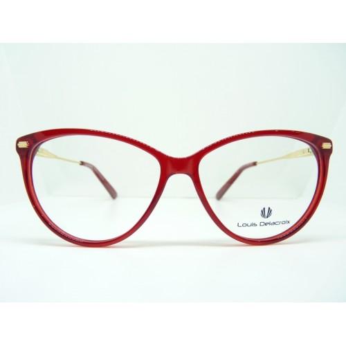 Louis Delacroix Oprawa okularowa damska 77156CD Col.03 - złoty, czerwony