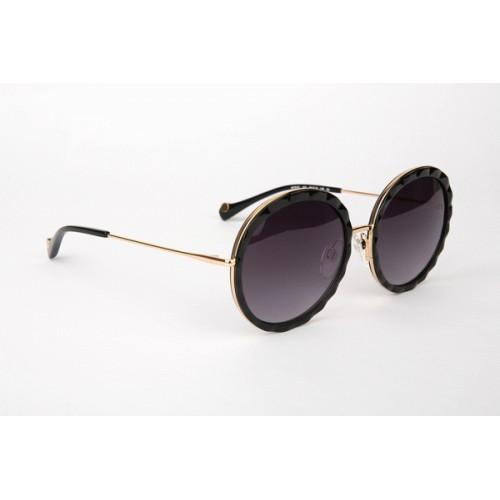 Ana Hickmann Okulary przeciwsłoneczne damskie AH3161 A01 - czarny, złoty, filtr UV 400