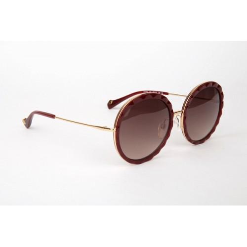 Ana Hickmann Okulary przeciwsłoneczne damskie AH3161 T01 - złoty, brązowy, filtr UV 400