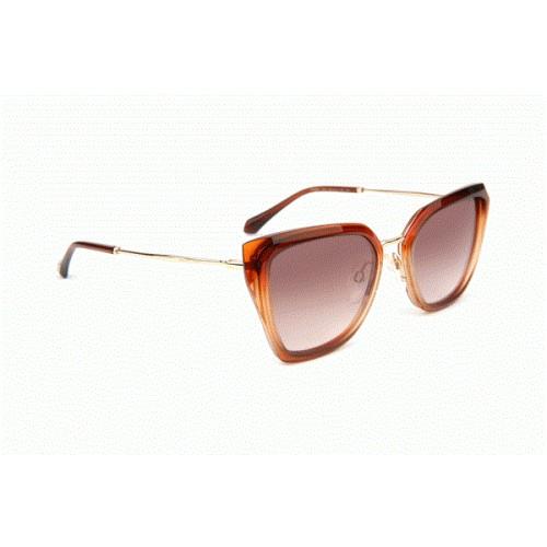 Ana Hickmann Okulary przeciwsłoneczne damskie AH9290 C02 - bursztynowy, filtr UV 400