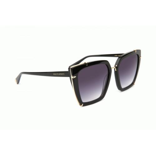 Ana Hickmann Okulary przeciwsłoneczne damskie AH9287 A02 - czarny, filtr UV 400