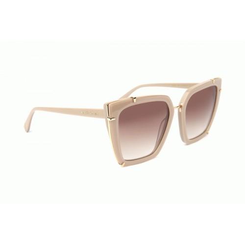 Ana Hickmann Okulary przeciwsłoneczne damskie AH9287 D01 - beżowy, filtr UV 400