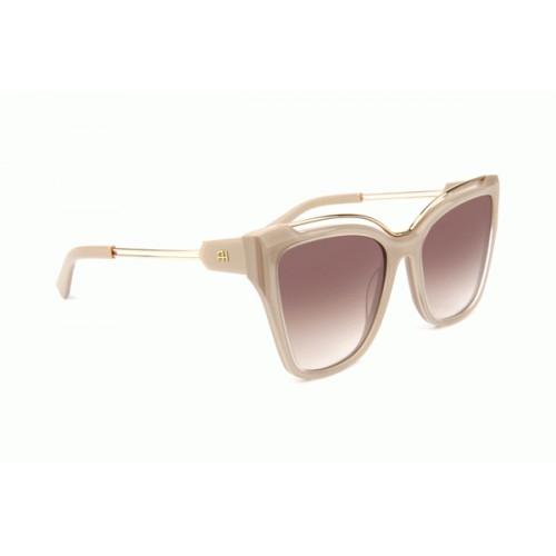 Ana Hickmann Okulary przeciwsłoneczne damskie AH9292 D02 - złoty, beżowy, filtr UV 400