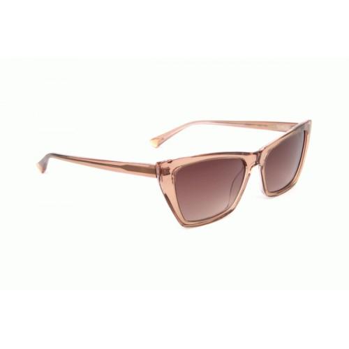 Ana Hickmann Okulary przeciwsłoneczne damskie AH9297 H01 - transparentny róż, filtr UV 400