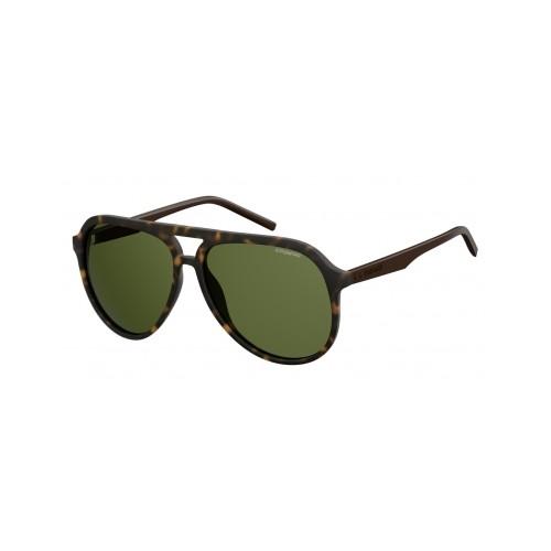 Polaroid Okulary przeciwsłoneczne męskie PLD 2048 - brązowy, polaryzacja